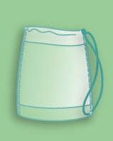 Matchsack - Die sportliche Plastiktragetaschen mit Baumwollkordel, Randumschlag und Bodenfalte