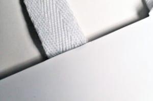 Baumwollband bei Papiertaschen