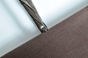 Gedrehte Papierkordel im Umschlag bei ROMA