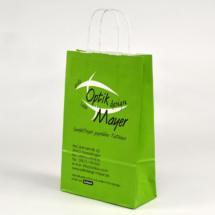Kleine grüne Papiertüte