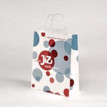 Papiertasche, klein, gedrehte Kordel