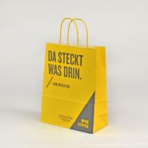 Kleine Papiertasche in gelb