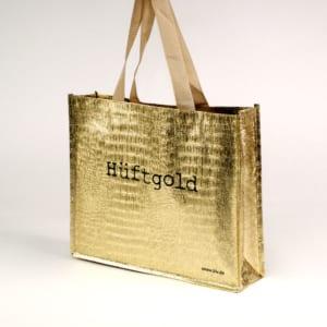 non-woven-shopper-gold