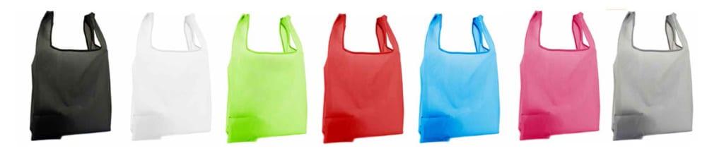 Nylontaschen mit Etui, Einkaufstaschen mit Etui