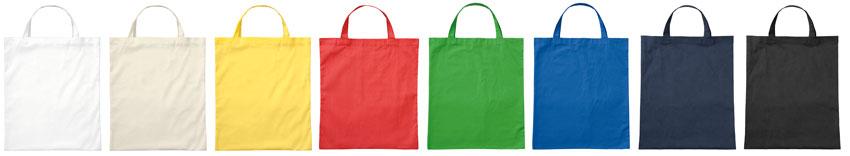 Bio-Baumwolltaschen mit kurzen Henkeln, Stofftaschen