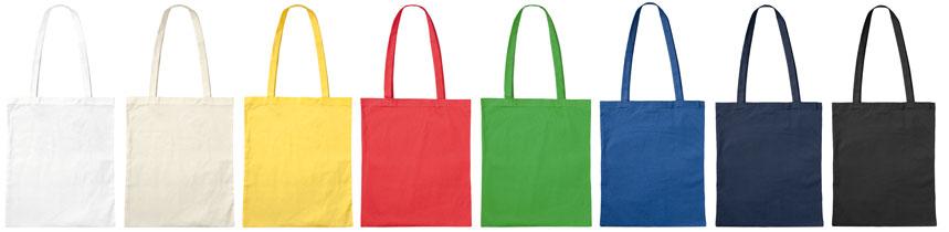 Bio-Baumwolltaschen mit langen Henkeln, Stofftaschen