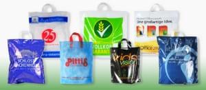 Bedruckte Schlaufentaschen, Einkaufstaschen, Werbetaschen