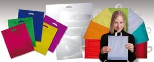 farbige Plastiktüten, DKT, Plastiktüten mit Schlaufe
