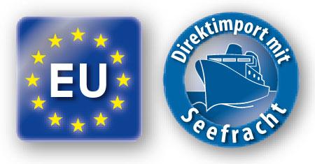 EU Logo und Seefracht-Logo
