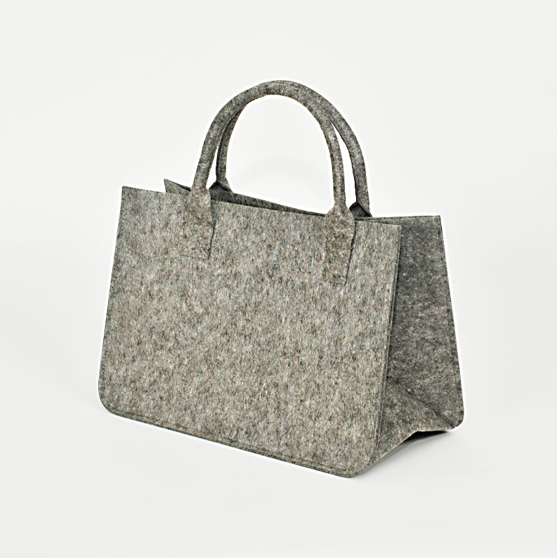 Edle Filztasche, grau, eigene Maße