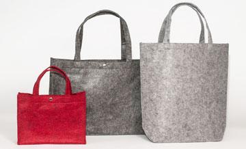 Filztaschen shopper und tote bags