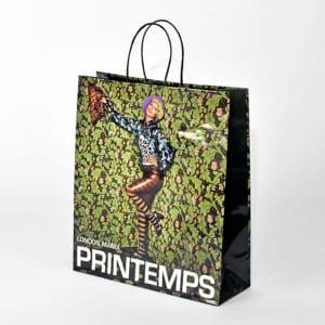 Papiertasche mit Kordel, farbig bedruckt