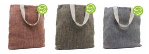 Umweltfreundliche Tasche aus Juca, ein Baumwoll-Jute-Gemisch