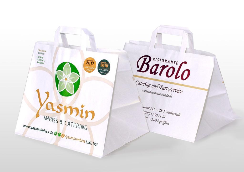Papiertüten für die Gastronomie - take away tüten