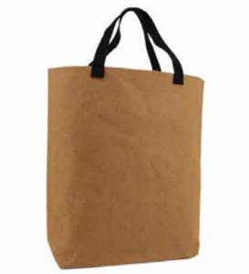 Waschbare Papiertasche mit schwarzen Baumwollgriffen