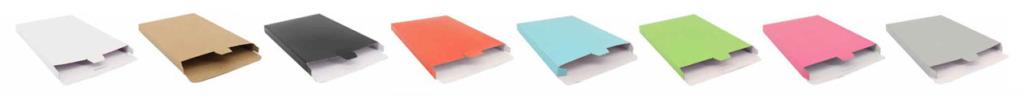 Versandkarton in 3 Größen und 8 Farben